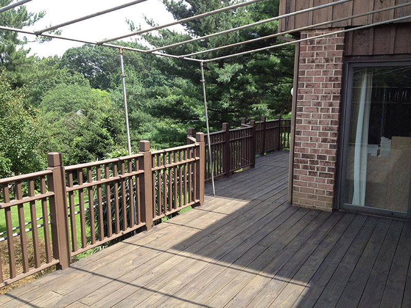 Semi-Transparent Black Stained Deck in Reading PA