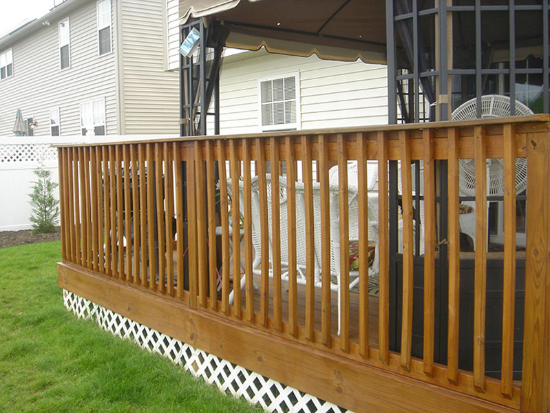 Semi-transparent stained deck in Temple PA