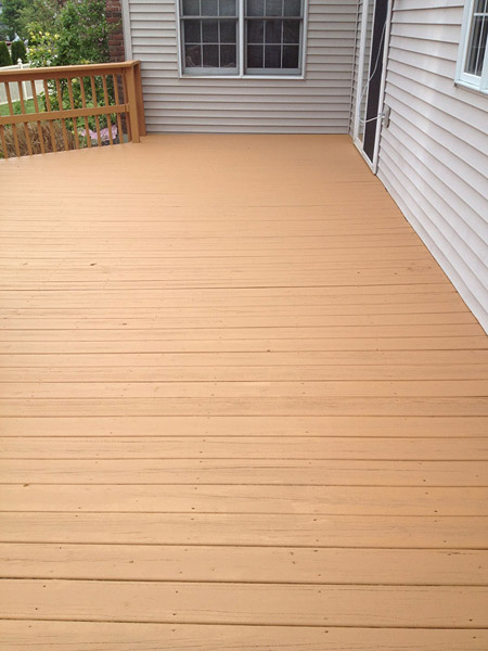 Solid Deck Staining in Reading Pa