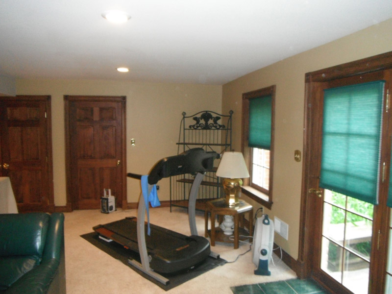 Painted Finished Basement in Wyomissing PA