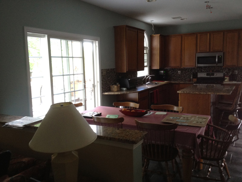 Freshly painted kitchen in Macungie PA