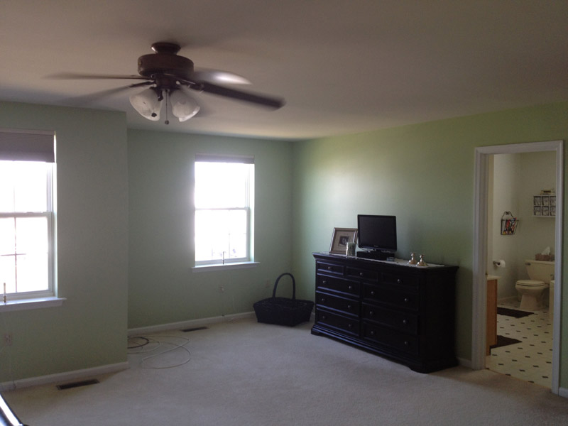 Master Bedroom Painted in Fogelsville PA