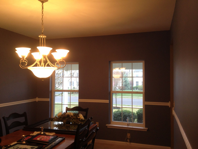 Our painters completed this dinning room in Macungie Pa