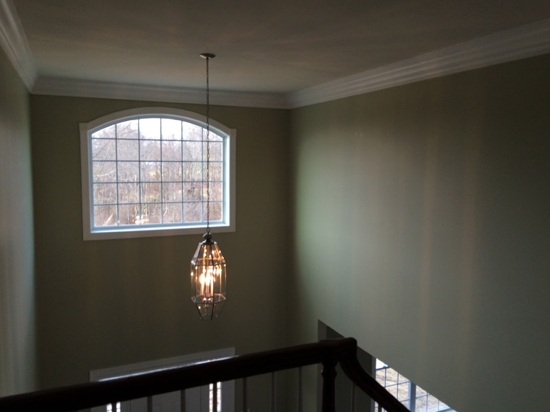 Sage painted foyer in Reading PA