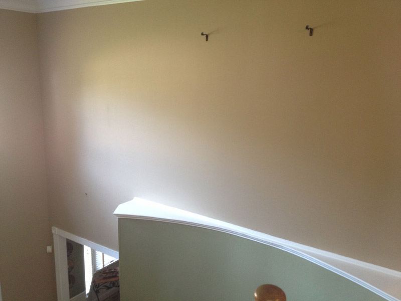 A fresh painted foyer in Wyomissing pa