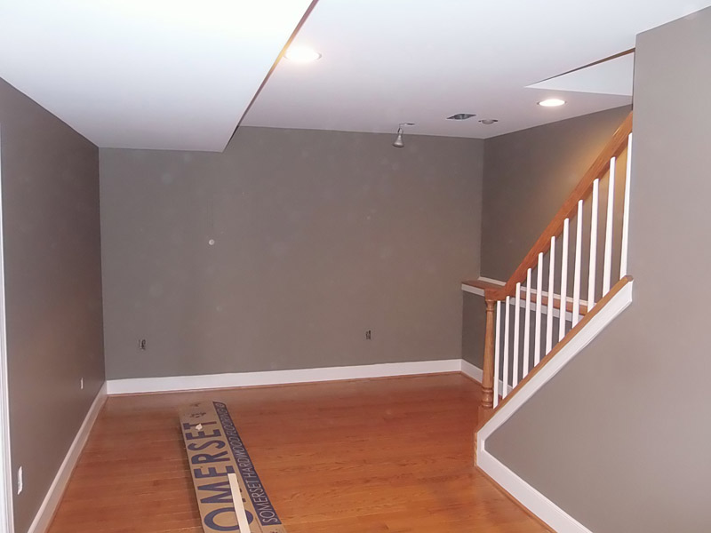 Painted Finished Basement Fleetwood PA