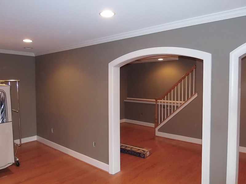 Painted finished basement in Fleetwood PA