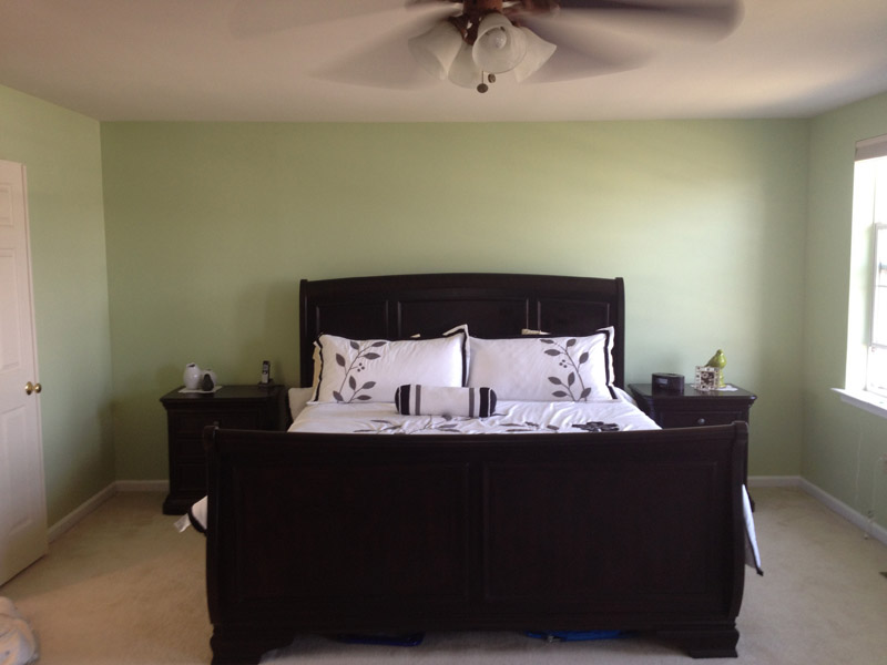 Painted Master Bedroom in Fogelsville PA