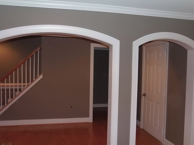Our painters completed this newly finished basement in Fleetwood PA
